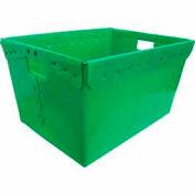 Corrugated Plastic Nestable Tote, 24x17-1/2x13, Green (Min. Purchase Qty 48+)