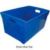 Corrugated Plastic Nestable Tote, 24x16x12, Yellow (Min. Purchase Qty 72+)