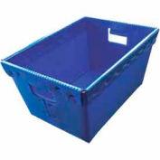 Corrugated Plastic Nestable Tote, 15-1/2x11-1/2x8, Blue (Min. Purchase Qty 168+)