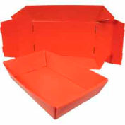 Corrugated Plastic Knockdown Tray, 22x12-1/4x4-1/2, Red (Min. Purchase Qty 100+)