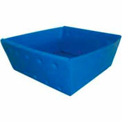 Corrugated Plastic Nestable Tray, No Handles, 13x12x4-1/2, Blue (Min. Purchase Qty 76+)
