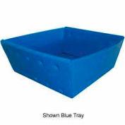 Corrugated Plastic Nestable Tray, No Handles, 13x12x4-1/2, Gray (Min. Purchase Qty 76+)