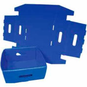 Corrugated Plastic Knockdown Tray, 13x12x4-1/2, Blue (Min. Purchase Qty 100+)