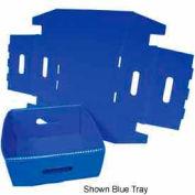 Corrugated Plastic Knockdown Tray, 13x12x4-1/2, Gray (Min. Purchase Qty 100+)