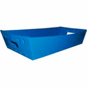 Corrugated Plastic Nested Tray, 24x12x4-1/2, Blue (Min. Purchase Qty 76+)
