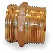 Fire Hose Double Male Nipple - 1-1/2 In. NPT X 1-1/2 In. NH - Brass