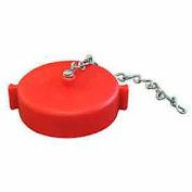 Fire Hose Red Hose Cap - 2-1/2 In. NH - Plastic