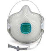Moldex 2730N100 2730 Series N100 Particulate Respirators, HandyStrap & Ventex Valve, M/L, 5/Box