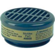 8000 Series Gas/Vapor Cartridges, MOLDEX 8600, 1-Pair
