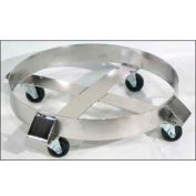 """Morse® Stainless Steel Round Drum Dolly 14-SS - 23"""" Diameter - 1000 Lb. Cap. Steel Casters"""