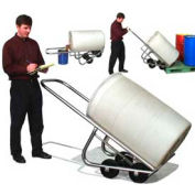 Morse® 4-Wheel Stainless Steel Drum Truck 160-SS 1000 Lb. Capacity