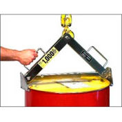 Morse® Stainless Steel Drum Lifter Steel, Fiber, Poly Drums Model 92-SS 1000 Lb. Cap.