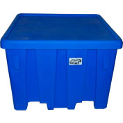 "MODRoto Bulk Container with Lid UN/DOT Rated P291 - 16 Bushel 45""L x 45""W x 33""H Royal Blue"