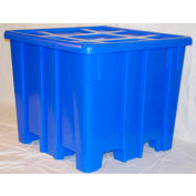 "MODRoto Bulk Container with Lid P433 - 28 Bushel 47-1/2""L x 47-1/2""W x 40-1/2""H Red"