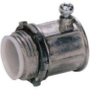 """Morris Products 14866, EMT Set Screw Connectors with Insulated Throat - Zinc Die Cast  2-1/2"""""""