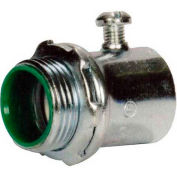 Morris Products 14893, EMT Set Screw Connectors - Steel - Insulated Throat  1-1/4""