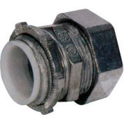 Morris Products 14929, EMT Compression Connectors - Zinc Die Cast - Insulated Throat  4""