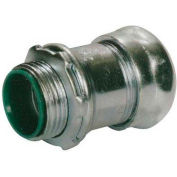 Morris Products 14954, Steel EMT Compression Connectors with Insulated Throat 1-1/2""