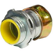 Morris Products 14984, Steel EMT Rain Tight Compression Connectors - Insulated Throat 1-1/2""