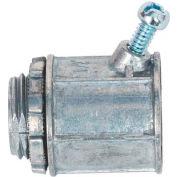 "Morris Products 15053, Flex Angled Set Screw Box Connectors - Zinc Die Cast 1/2"""