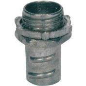 "Morris Products 15071, Screw-In Connectors for Greenfield/Flex Conduit - Zinc Die Cast 1/2"""