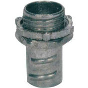 Morris Products 15073, Screw-In Connectors for Greenfield/Flex Conduit - Zinc Die Cast 1""