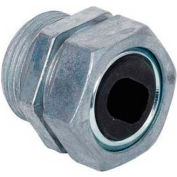 """Morris Products 15371, Water-Tight Service Entrance Connector - Zinc ,1"""" #6 Cable Grommet"""