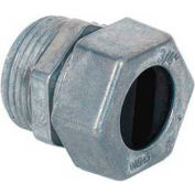 Morris Products 15387, Under-Ground Feed UF To Box Connector - Zinc Die Cast 3/4""