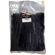"Morris Products 20158, Ultraviolet Black Nylon Cable Ties - Bulk Pack  40LB 6"" 1000 Pk, 1000 Pk"