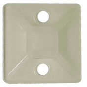 """Morris Products 20394, Self-Adhesive Tie Mounts 3/4"""" x 3/4"""" with (2) #8 Screw Holes, 100 Pk"""
