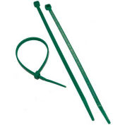 "Morris Products 20614, Green Nylon Cable Ties 50LB 8"", 100 Pk"