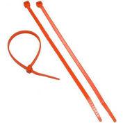 "Morris Products 20627, Fluorescent Orange Nylon Cable Ties 50LB 8"", 100 Pk"