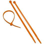 "Morris Products 20637, Orange Nylon Cable Ties 50LB 11"", 100 Pk"