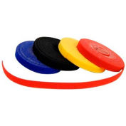 """Morris Products 20996, Self Stick Cable Ties - Roll 1/2"""" X 75' Yellow"""