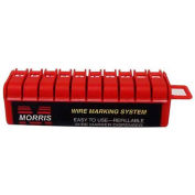 Morris Products 21210, Wire Marker Dispenser Preloaded with legends 0-9
