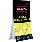 Morris Products 21254, Wire Marker Booklets 1-45 Tyvek