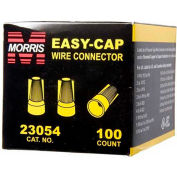 Morris Products 23054, Easy-Cap Wire Connectors Yellow Boxed 100 Pack, 100 Pk