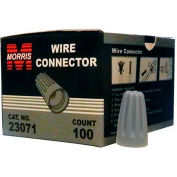 Morris Products 23071, Screw-On Wire Connectors P1 Gray Boxed 100 Pack, 100 Pk