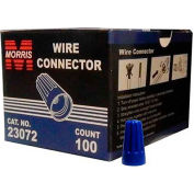 Morris Products 23072, Screw-On Wire Connectors P2 Blue Boxed 100 Pack, 100 Pk