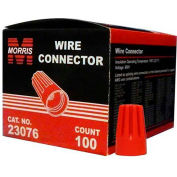 Morris Products 23076, Screw-On Wire Connectors P6 Red Boxed 100 Pack, 100 Pk