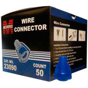 Morris Products 23090, Winged Twist Connectors Blue Boxed 50 Pack, 50 Pk