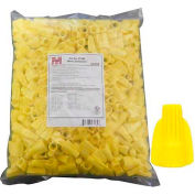 Morris Products 23184, Winged Twist Connectors Yellow Bagged 500 Bulk Pack, 500 Pk