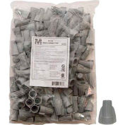 Morris Products 23188, Winged Twist Connectors Gray Bagged 100 Bulk Pack, 100 Pk