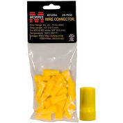 Morris Products 23254, Easy-Cap Wire Connectors Yellow Hanging Bag 25 Pack, 25 Pk