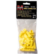 Morris Products 23274, Screw-On Wire Connectors P4 Yellow Hanging Bag 25 Pack, 25 Pk