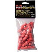 Morris Products 23276, Screw-On Wire Connectors P6 Red Hanging Bag 25 Pack, 25 Pk