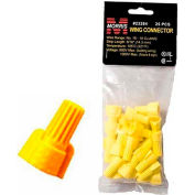 Morris Products 23284, Winged Twist Connectors Yellow Hanging Bag 25 Pack, 25 Pk