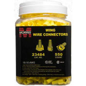 Morris Products 23484, Winged Twist Connectors Yellow Large Jar