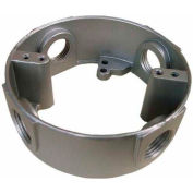 """Morris Products 36710, 4"""" Round Weatherproof Box Extensions - Four Holes 1/2"""" Gray"""