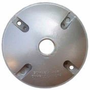 """Morris Products 36810, 4"""" Round Weatherproof Covers - One Hole 1/2"""" Gray"""